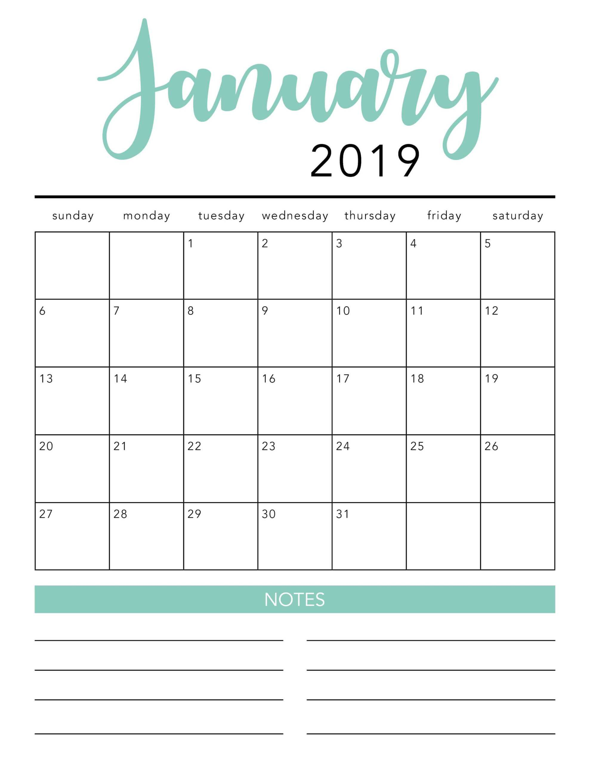 Free 2020 Printable Calendar Template (2 Colors!) - I Heart within Blank Calender Template