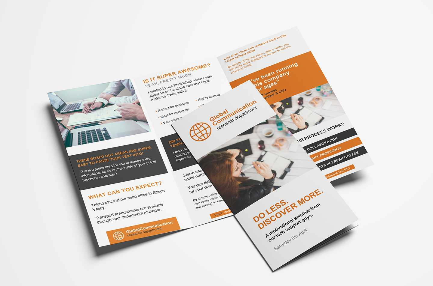 Free 3-Fold Brochure Template For Photoshop & Illustrator with 2 Fold Brochure Template Free