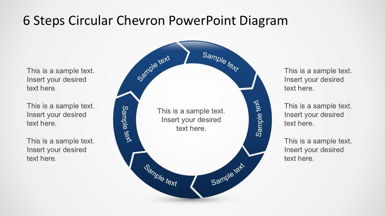 Free 6 Steps Circular Chevron Powerpoint Diagram in Powerpoint Chevron Template