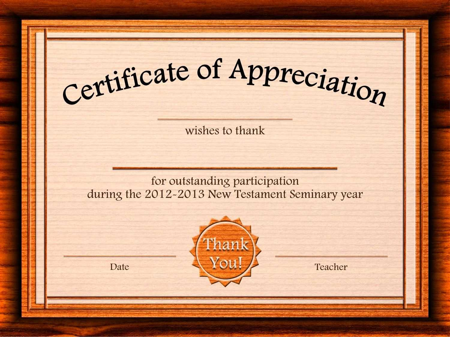 Free Appreciation Certificate Templates Supplier Contract within Professional Award Certificate Template
