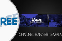 Free Banner Template Gimp #2 Inside Youtube Banner Template within Gimp Youtube Banner Template