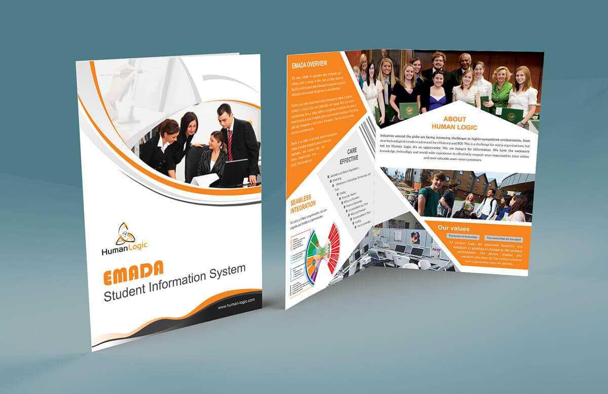 Free Bi-Fold Brochure Psd within Two Fold Brochure Template Psd