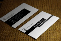 Free Black And White Business Card Template In Black And White Business Cards Templates Free