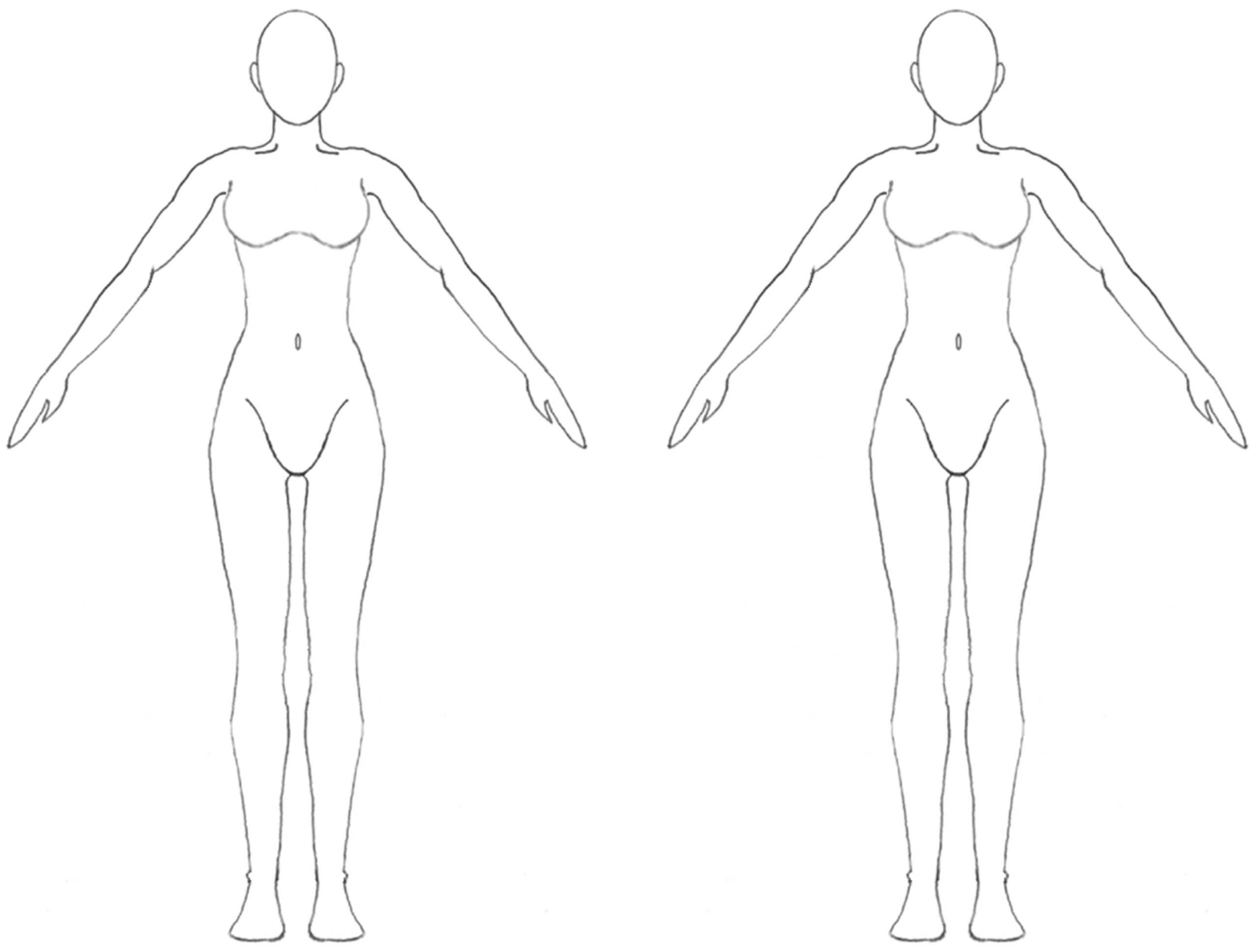 Free Blank Body, Download Free Clip Art, Free Clip Art On For Blank Body Map Template