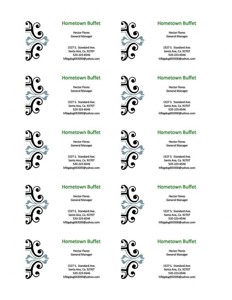 Free Blank Business Card Templates For Microsoft Word Intended For Business Card Template For Word 2007