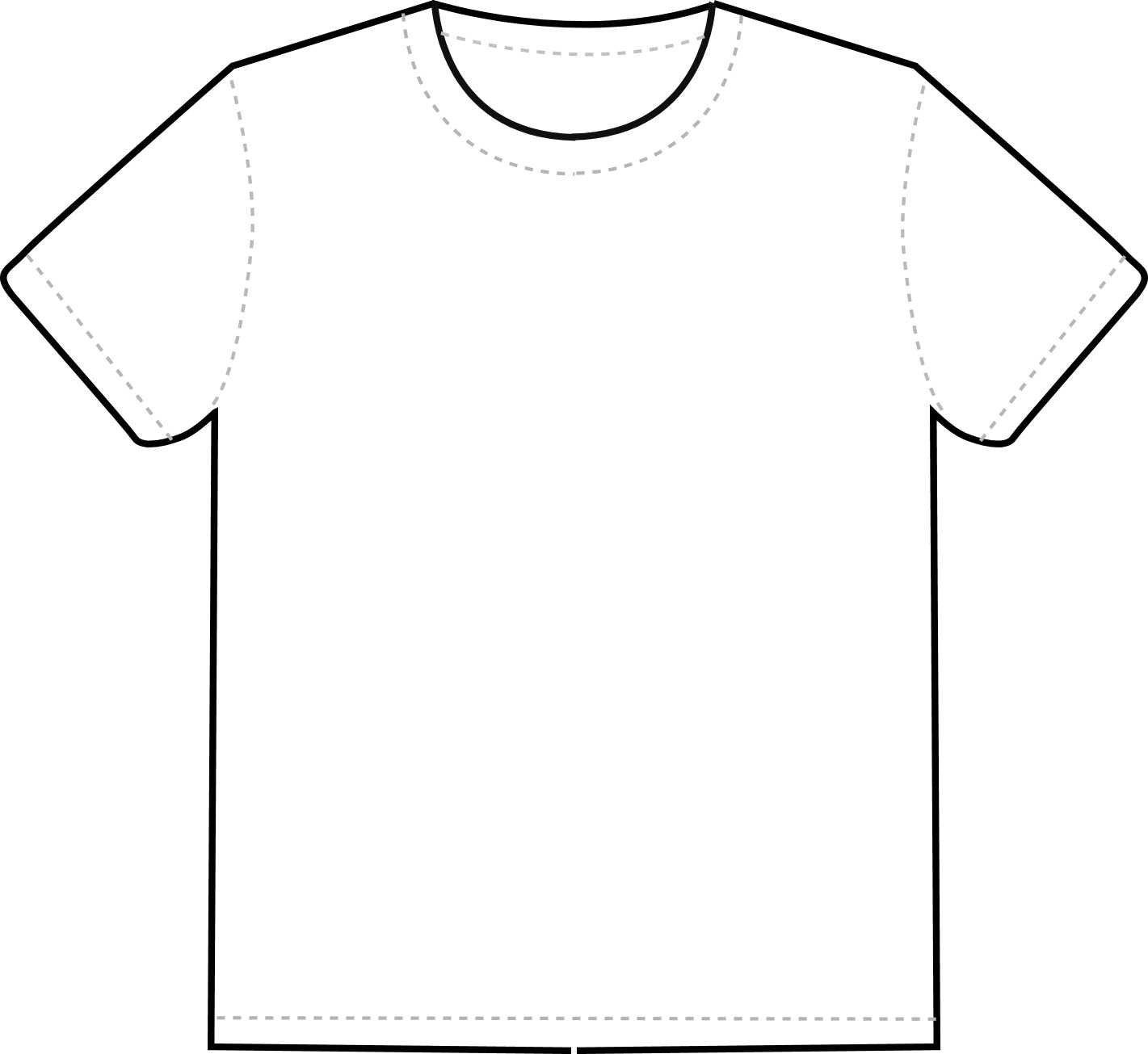 Free Blank T Shirt Outline, Download Free Clip Art, Free Within Blank T Shirt Outline Template
