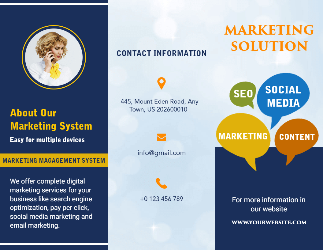 Free Brochure Maker -Create Custom Brochure Online | Photoadking for Online Brochure Template Free