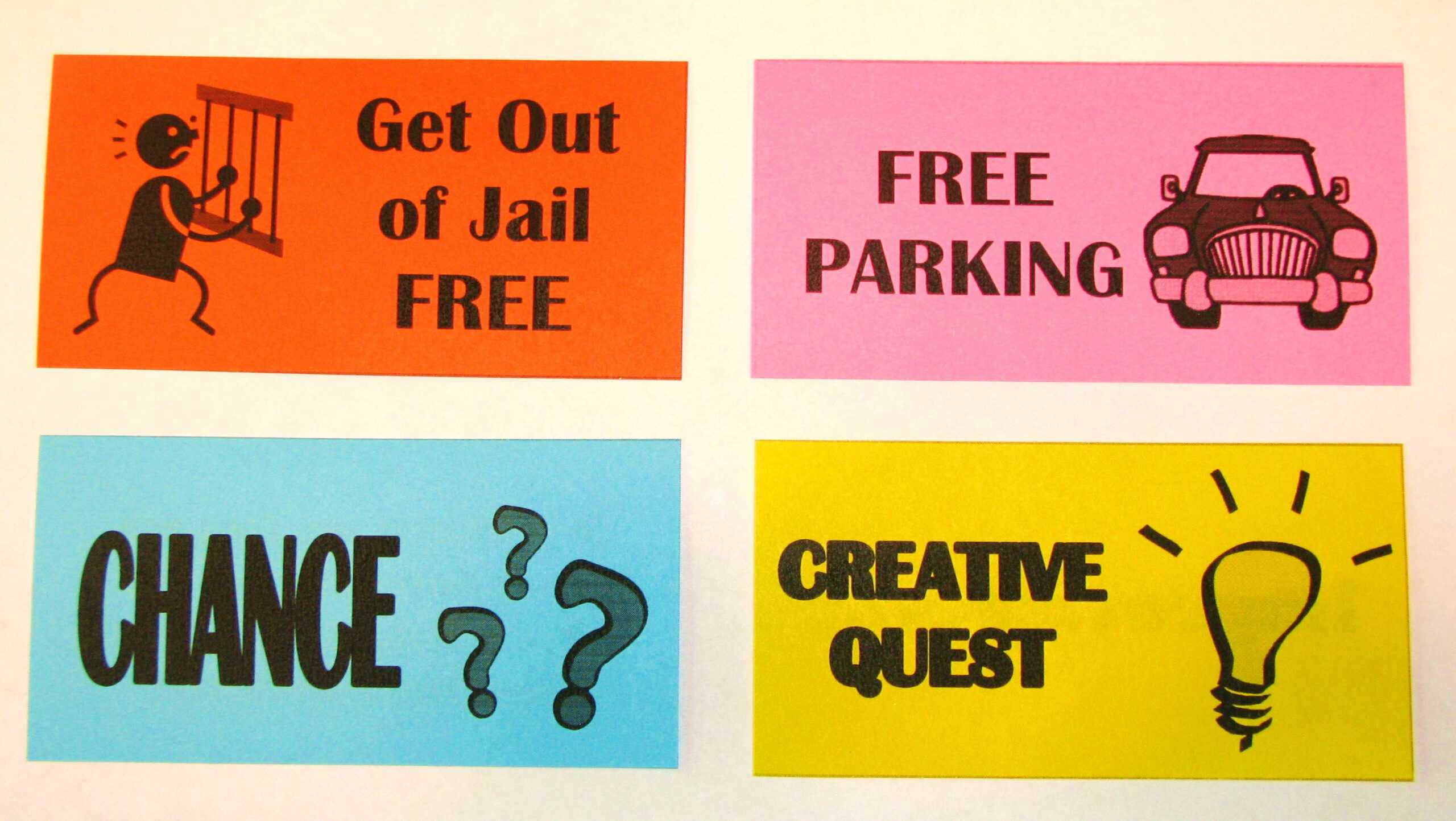 Free Card: Get Out Of Jail Free Card Monopoly throughout Get Out Of Jail Free Card Template