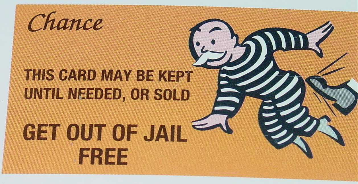 Free Card: Monopoly Get Out Of Jail Free Card Throughout Get Out Of Jail Free Card Template