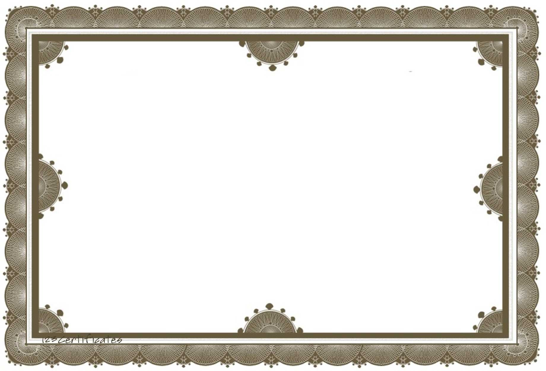 Free Certificate Borders To Download In Award Certificate Border Template