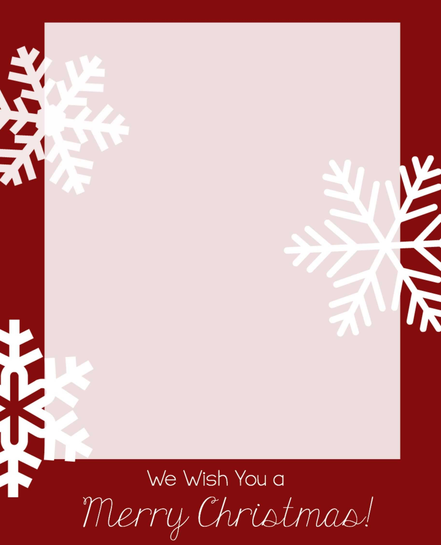 Free Christmas Card Templates | Christmas Card Template intended for Free Holiday Photo Card Templates