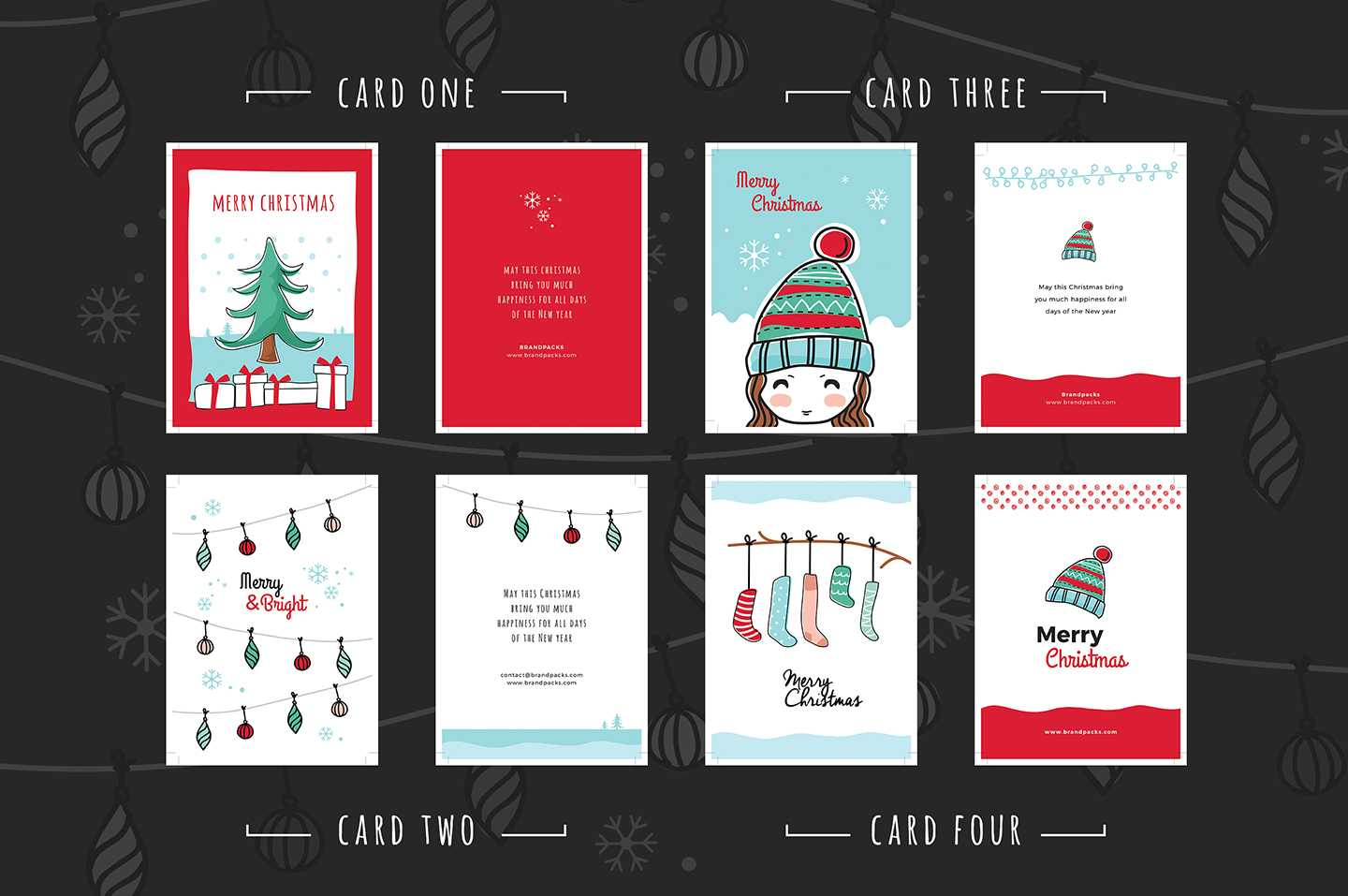 Free Christmas Card Templates For Photoshop & Illustrator Regarding Adobe Illustrator Christmas Card Template
