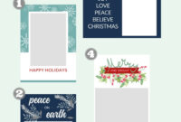 Free Christmas Card Templates – The Crazy Craft Lady within Print Your Own Christmas Cards Templates