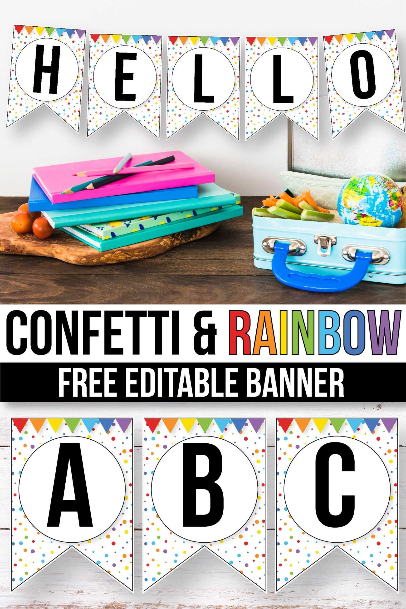 Free Confetti Banner For The Classroom - Confetti Classroom Inside Classroom Banner Template