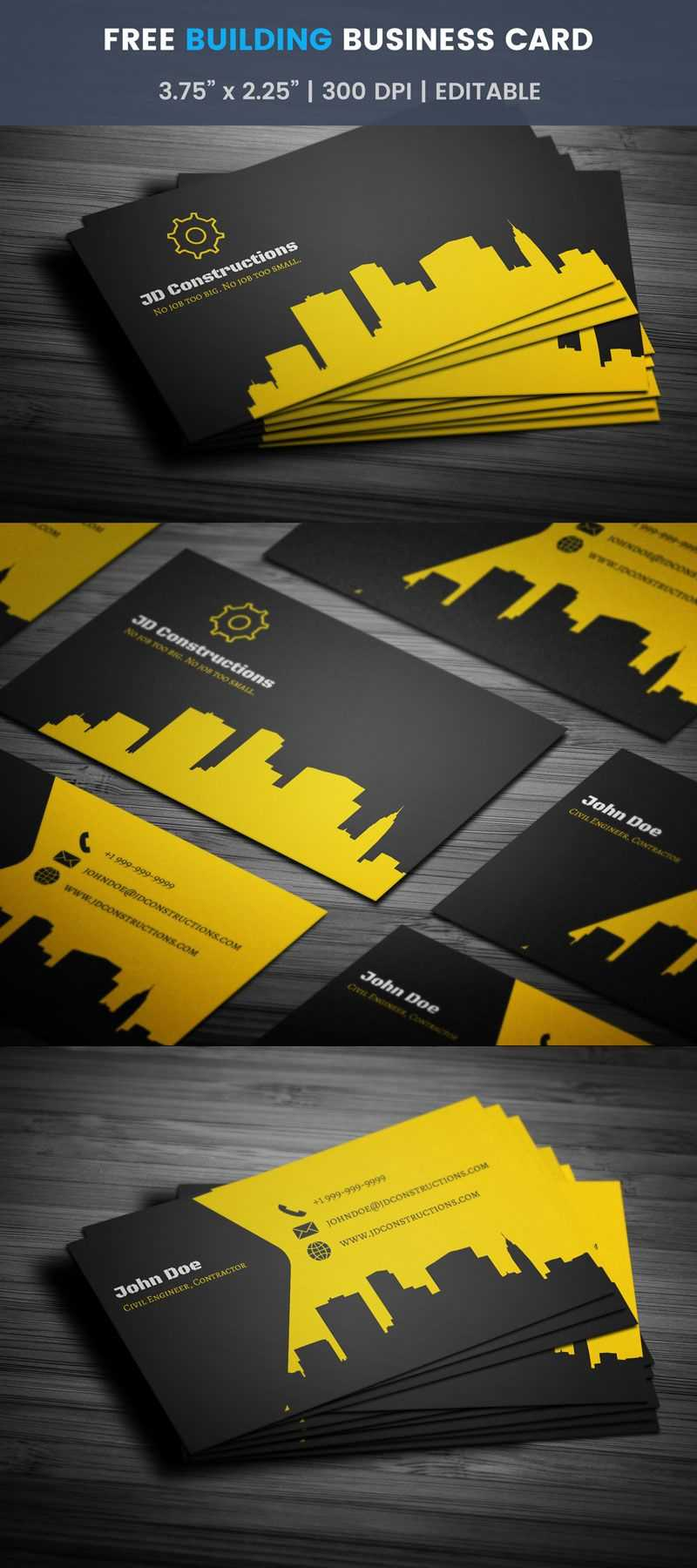 Free Construction Business Card Template Word Visiting With Regard To Construction Business Card Templates Download Free