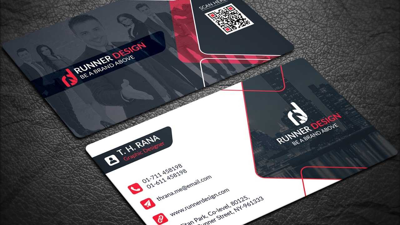 Free Corporate Business Card Photoshop Template for Template Name Card Psd