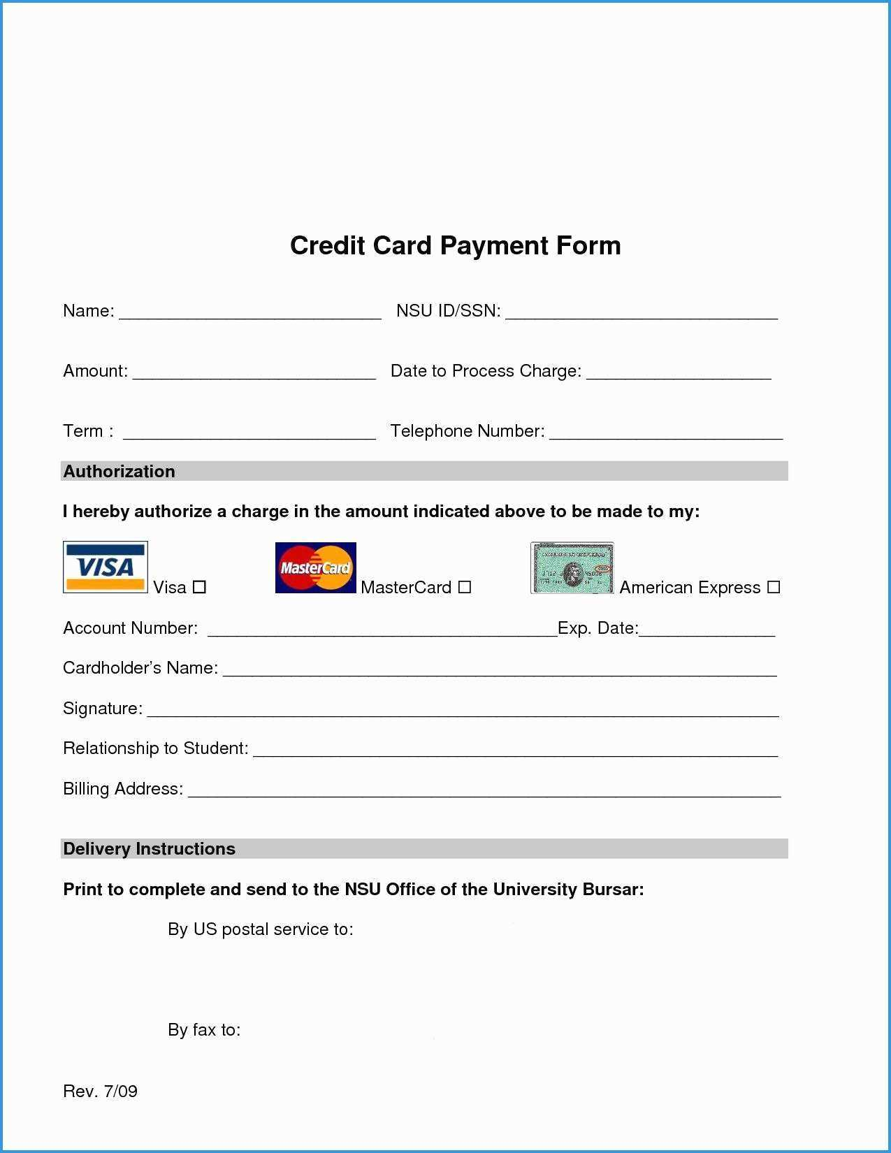 Free Credit Card Authorization Form Template Word Luxury regarding Credit Card Authorization Form Template Word