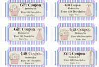 Free Custom Birthday Coupons – Customize Online & Print At Home with regard to Coupon Book Template Word