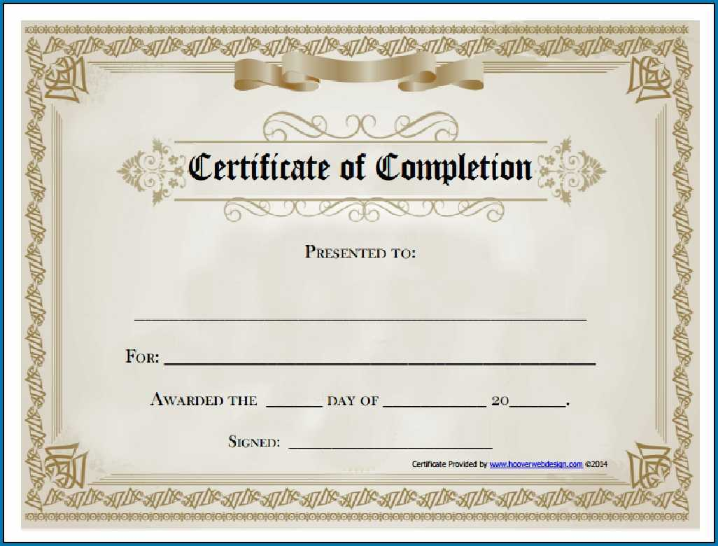Free Editable Printable Certificate Of Completion #253 Regarding Blank Certificate Of Achievement Template