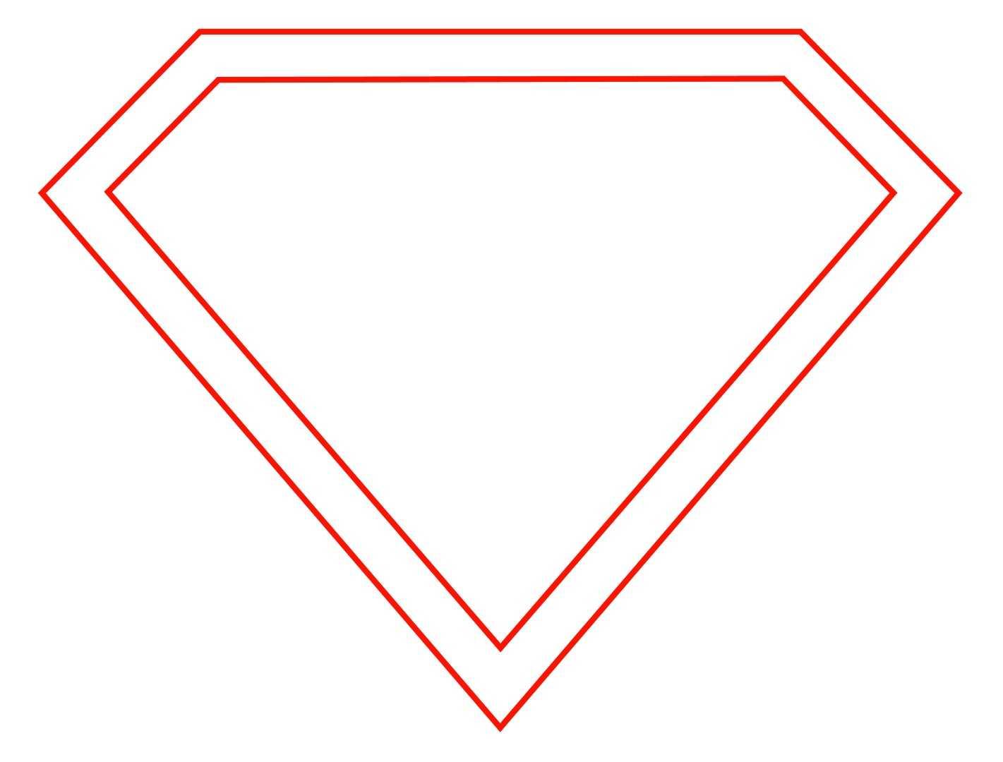 Free Empty Superman Logo, Download Free Clip Art, Free Clip Throughout Blank Superman Logo Template