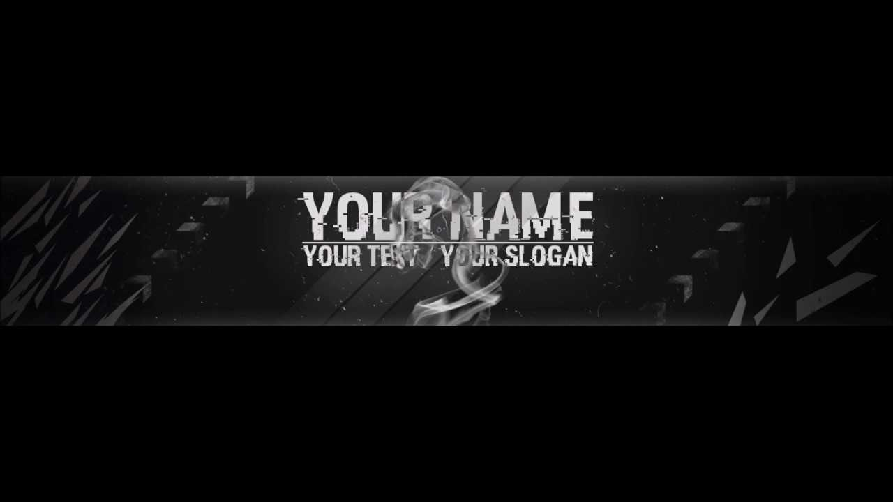 Free, Epic Youtube Banner / Channel Art Template - [Gimp And Photoshop] +  Download [Hacked Style] With Youtube Banner Template Gimp