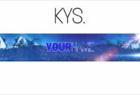 Free, Epic Youtube Banner/channel Art Template – [Gimp] + Download for Gimp Youtube Banner Template