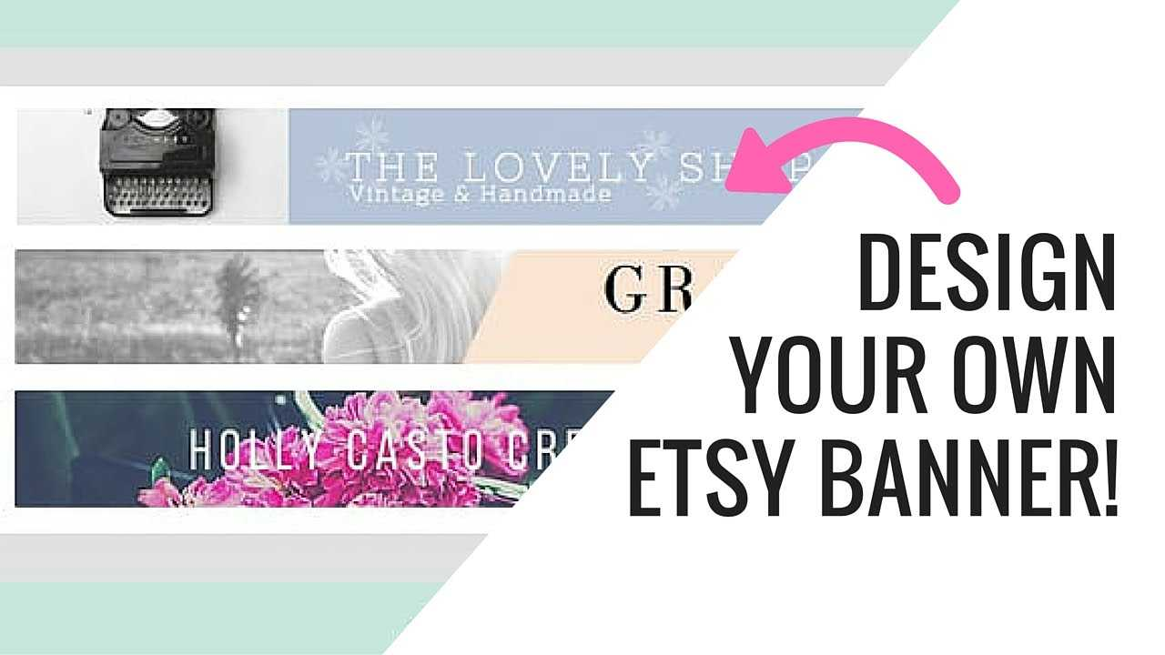 Free Etsy Banner Maker And Easy Tutorial Using Canva In Free Etsy Banner Template