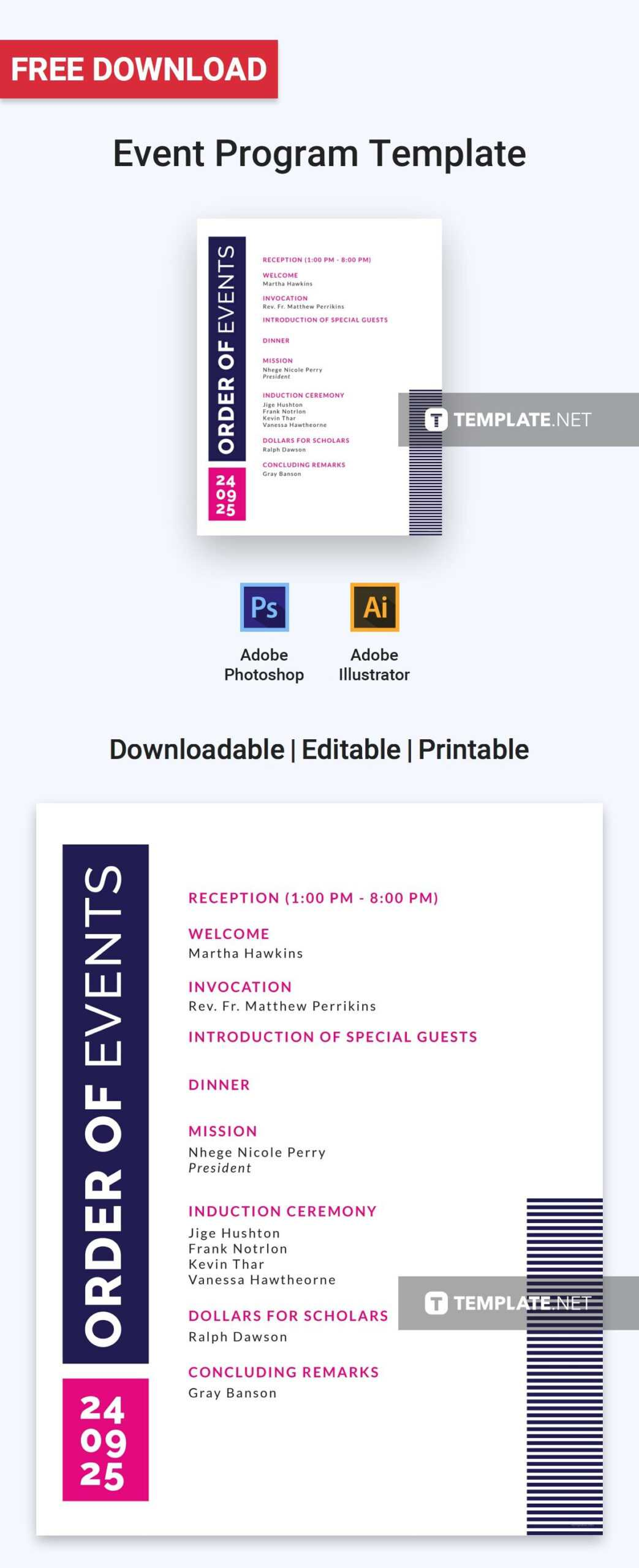 Free Event Program Invitation | Free Program Templates With Free Event Program Templates Word