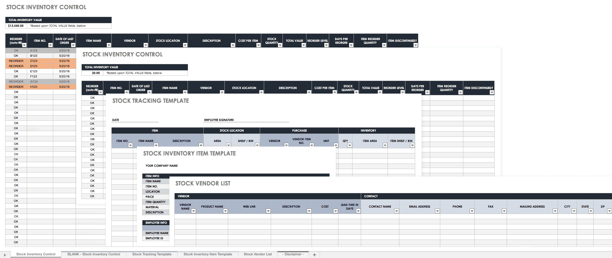 Free Excel Inventory Templates: Create & Manage | Smartsheet Regarding Stock Report Template Excel