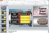 Free Family Feud Powerpoint 2010 Template Game Templates intended for Family Feud Powerpoint Template With Sound