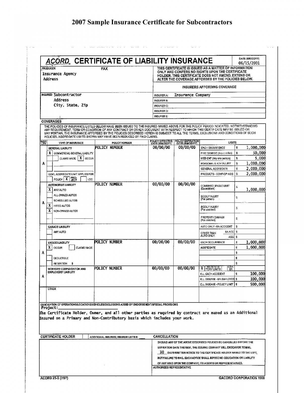 Free Fillable Acord Forms - Climatejourney in Chiropractic Travel Card Template