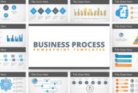 Free Flat Business Process Diagram Powerpoint Template within Powerpoint Default Template