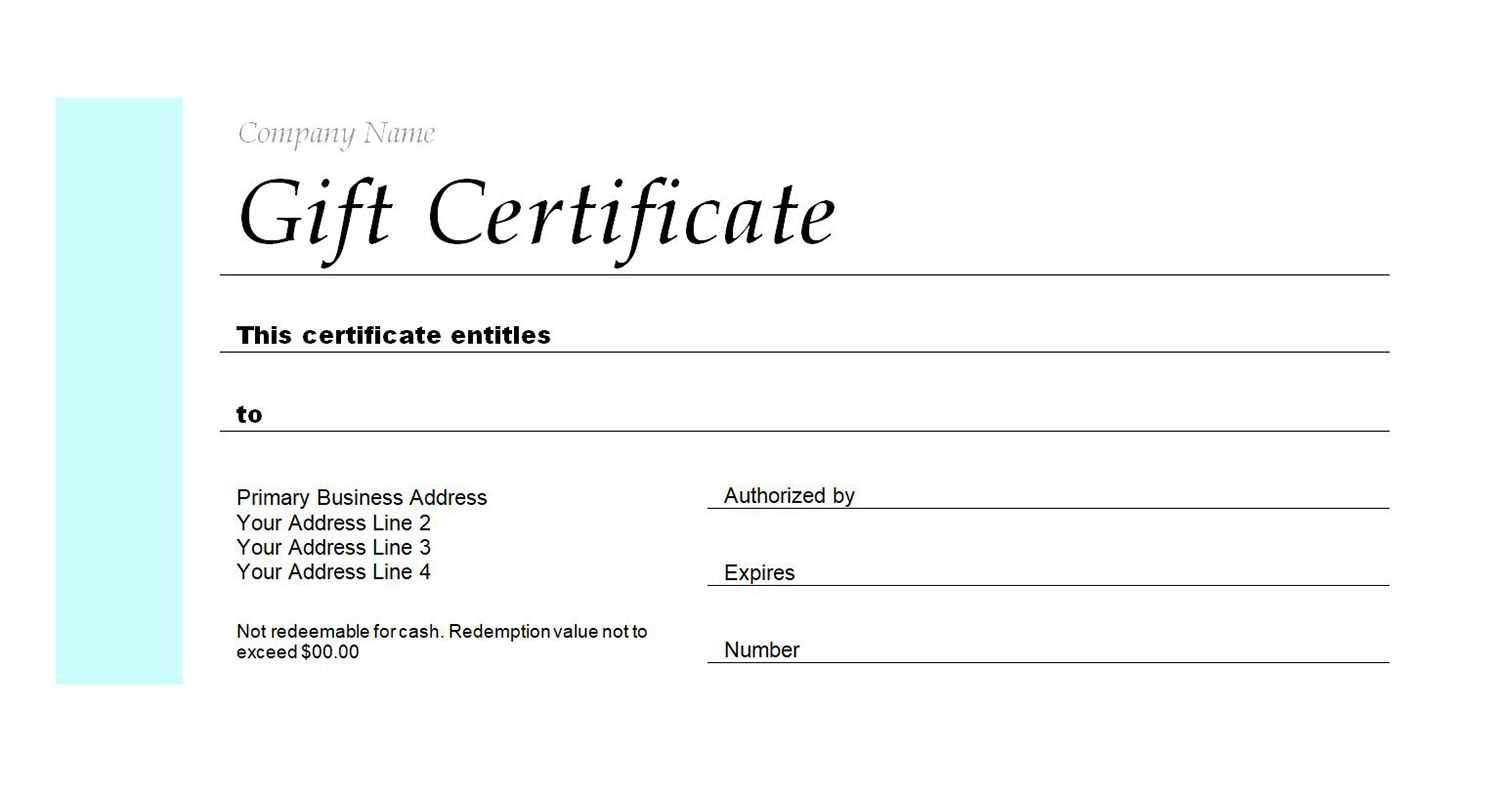 Free Gift Certificate Templates You Can Customize Throughout Microsoft Gift Certificate Template Free Word
