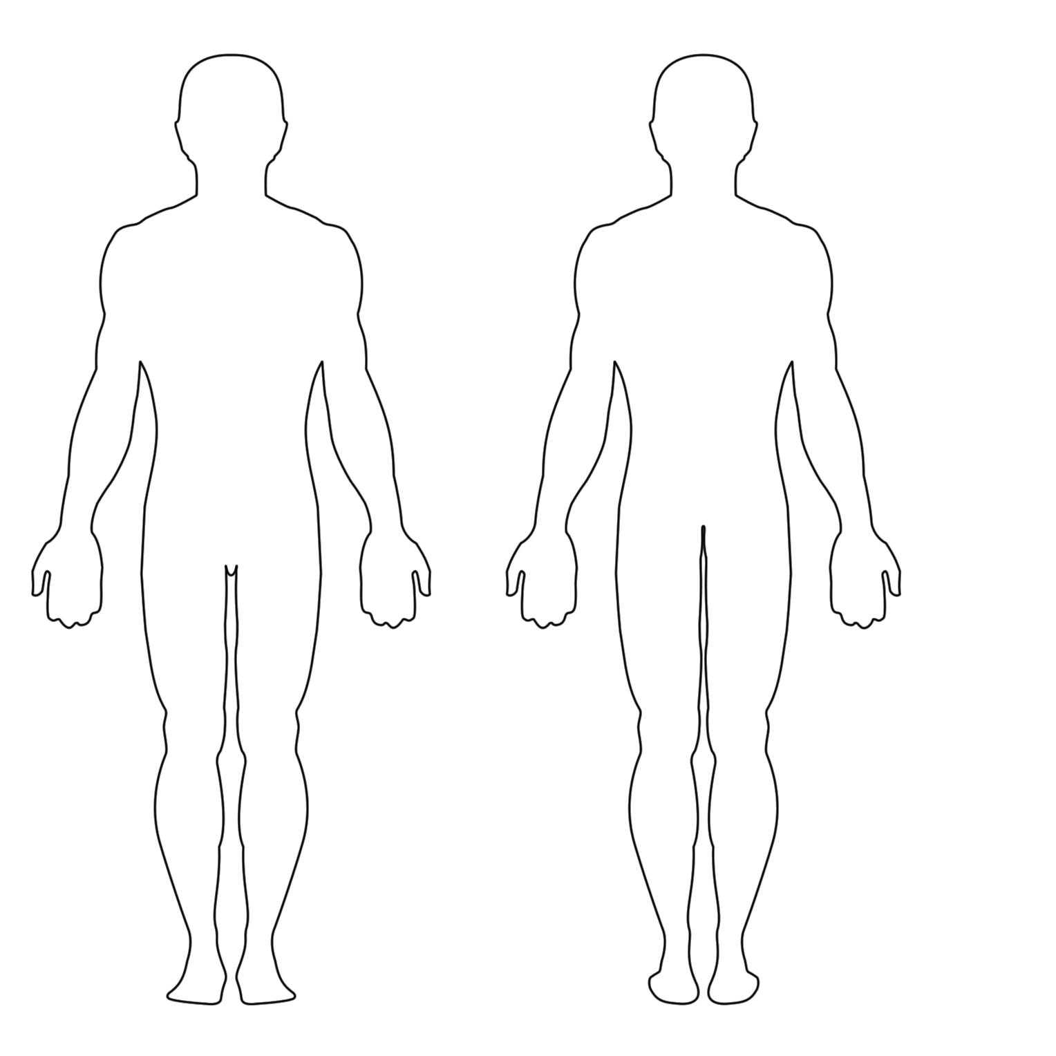 Free Human Body Outline Printable, Download Free Clip Art Pertaining To Blank Body Map Template
