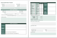 Free Incident Report Templates & Forms | Smartsheet for It Incident Report Template