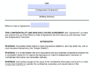 Free Independent Contractor Non-Disclosure Agreement (Nda pertaining to Nda Template Word Document