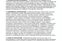 Free Intern Non-Disclosure Agreement (Nda) – Pdf – Word intended for Nda Template Word Document