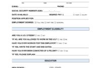 Free Job Application Form – Standard Template – Pdf | Word intended for Job Application Template Word Document