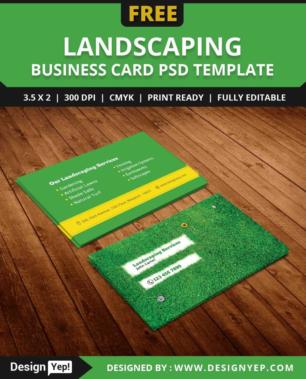 Free-Landscaping-Business-Card-Template-Psd   Free Business regarding Landscaping Business Card Template
