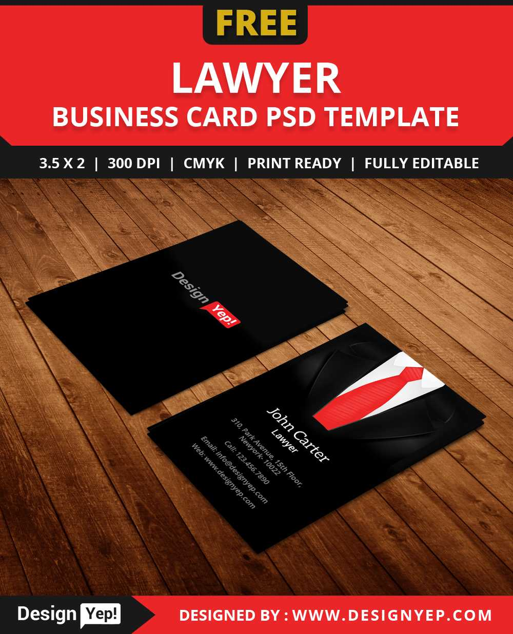 Free Lawyer Business Card Template Psd - Designyep with Name Card Design Template Psd