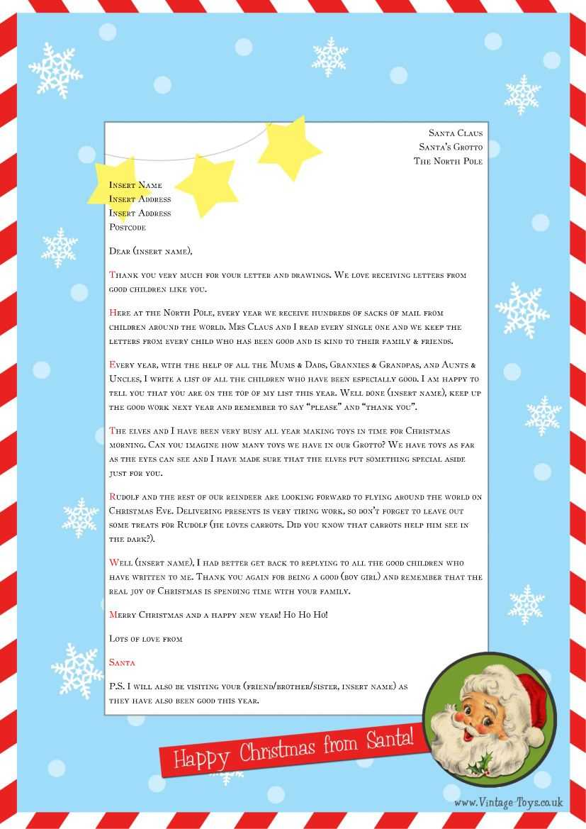 """Free """"Letter From Santa"""" Template For You To Download And Within Letter From Santa Template Word"""