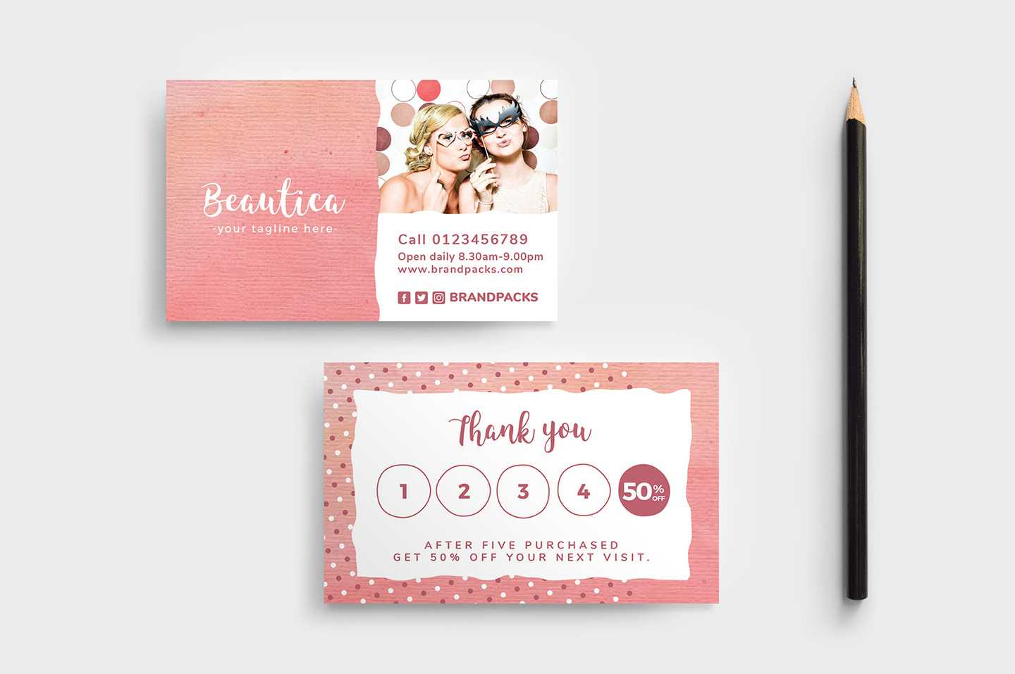 Free Loyalty Card Templates - Psd, Ai & Vector - Brandpacks Intended For Customer Loyalty Card Template Free