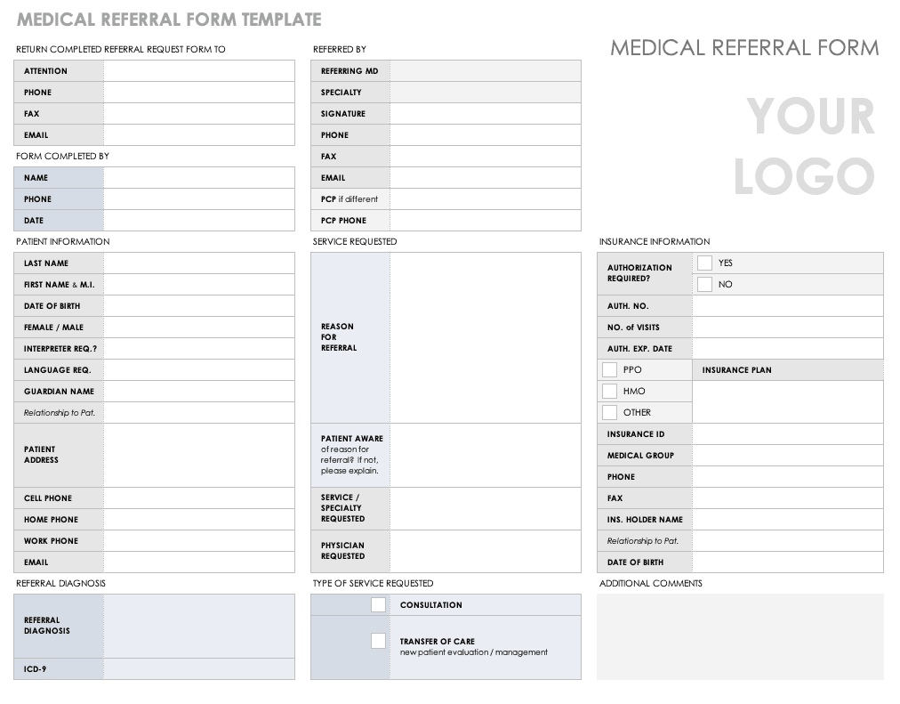 Free Medical Form Templates | Smartsheet pertaining to Medical History Template Word