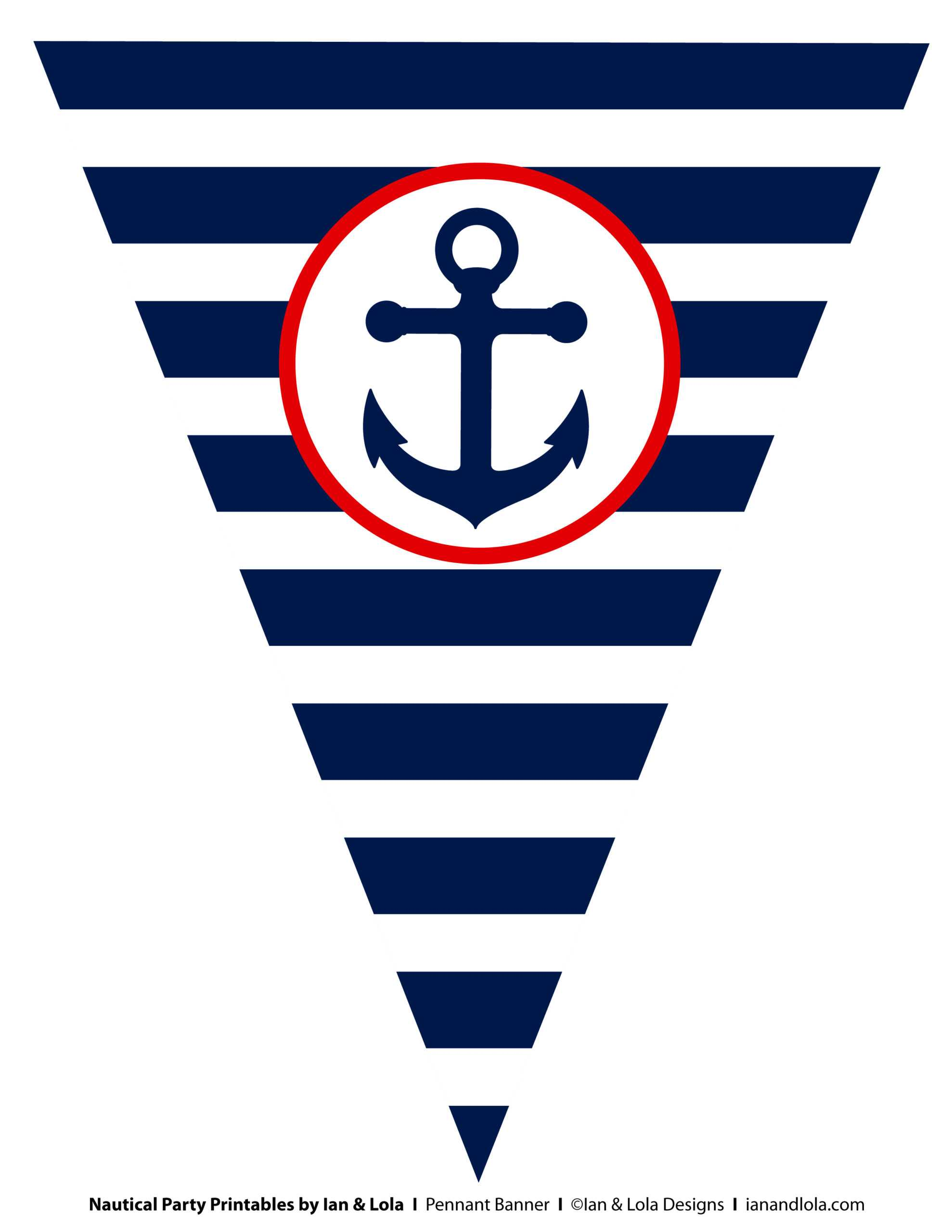 Free Nautical Party Printables From Ian & Lola Designs Regarding Nautical Banner Template