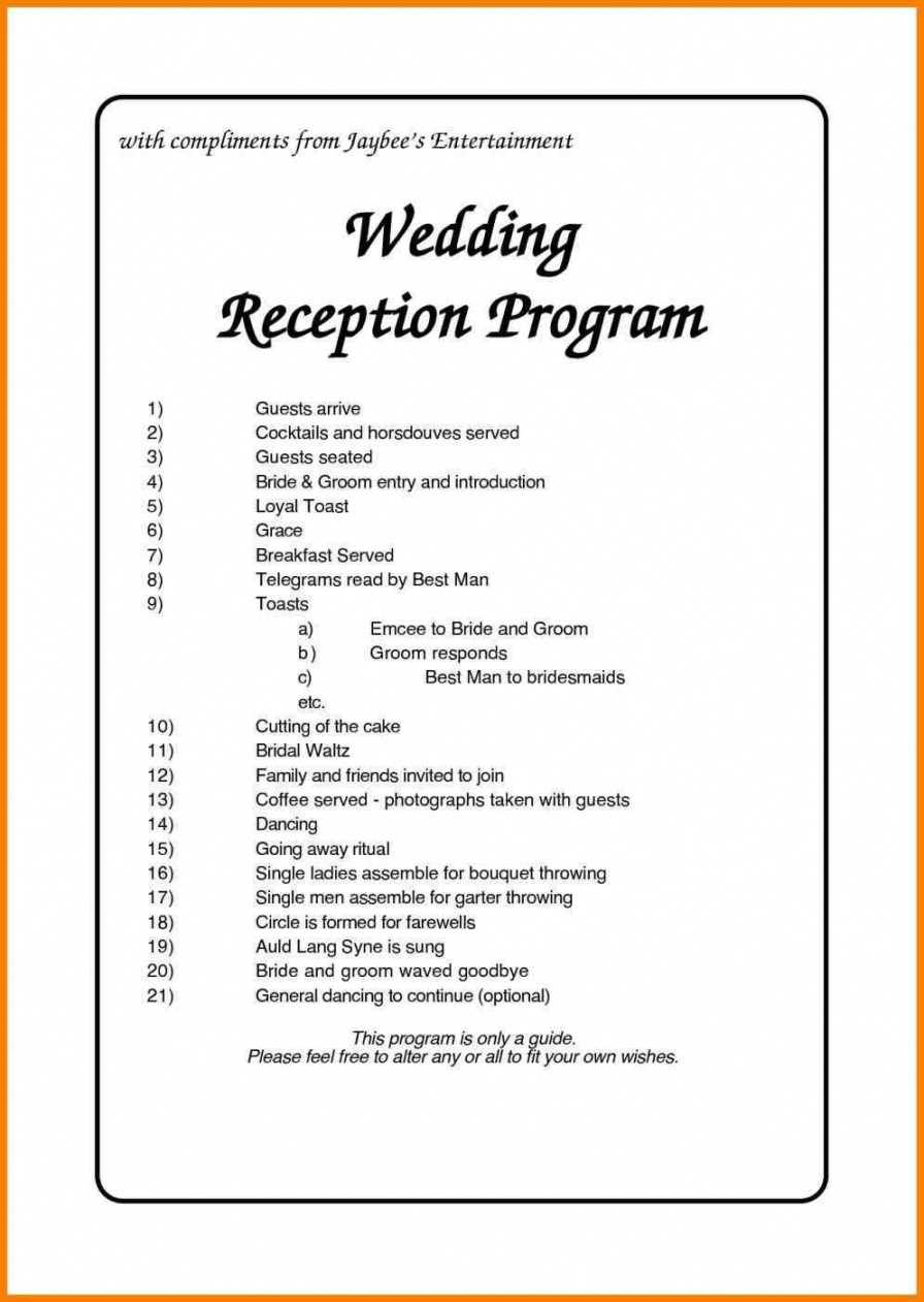 Free Nigerian Wedding Reception Program Weddings Wedding within Free Event Program Templates Word