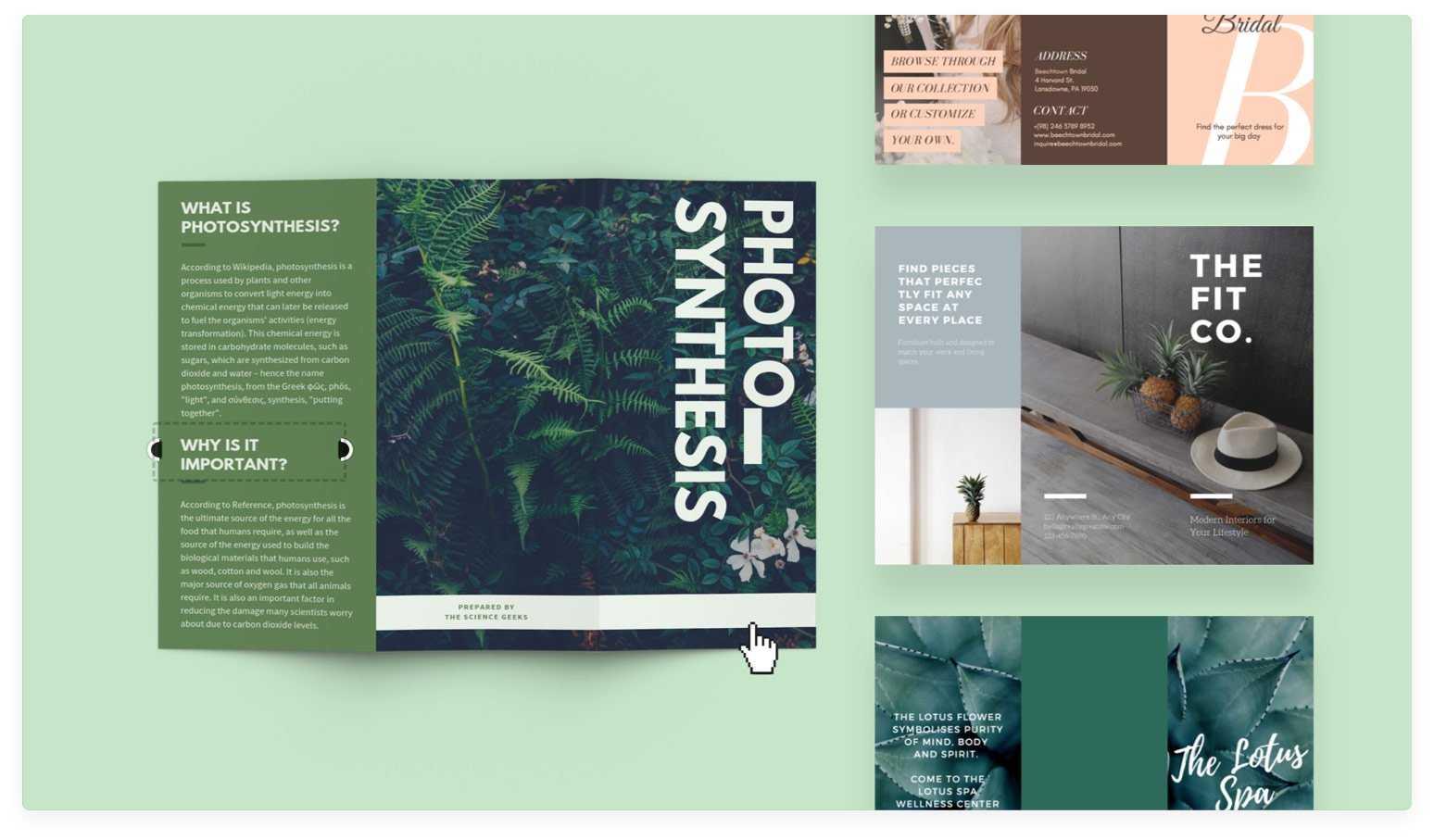 Free Online Brochure Maker: Design A Custom Brochure In Canva Intended For Online Free Brochure Design Templates