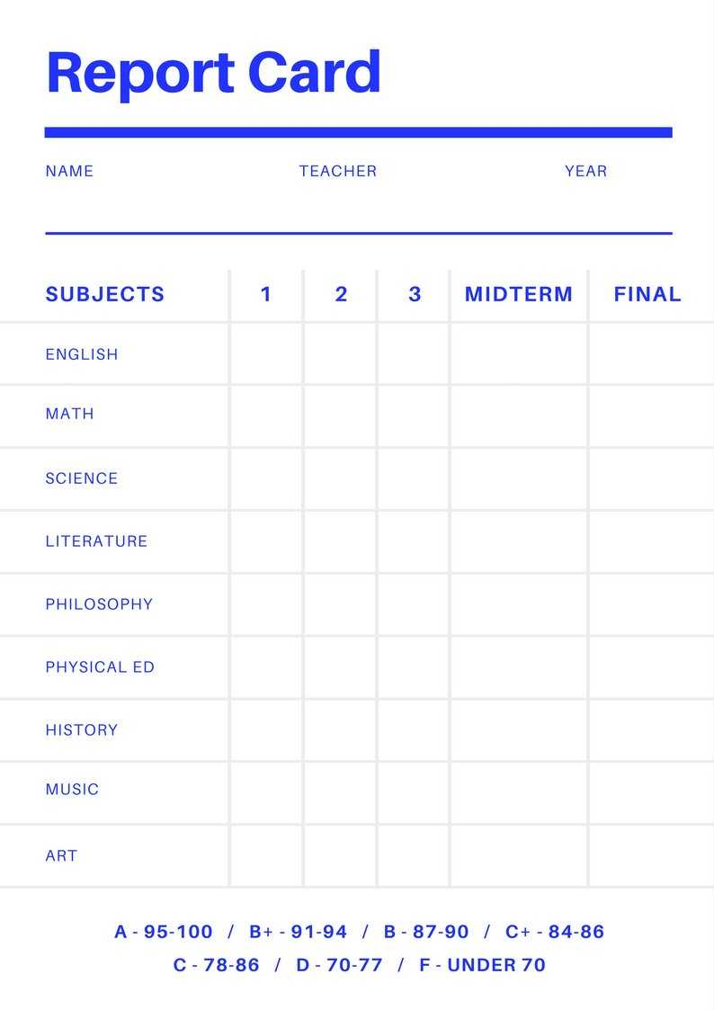 Free Online Report Card Maker: Design A Custom Report Card regarding Soccer Report Card Template