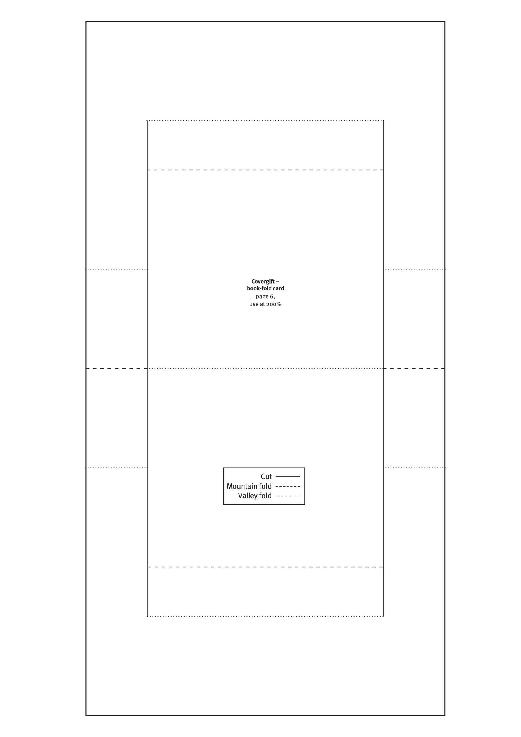 Free Papercraft Templates From Papercraft Inspirations 179 for Card Folding Templates Free