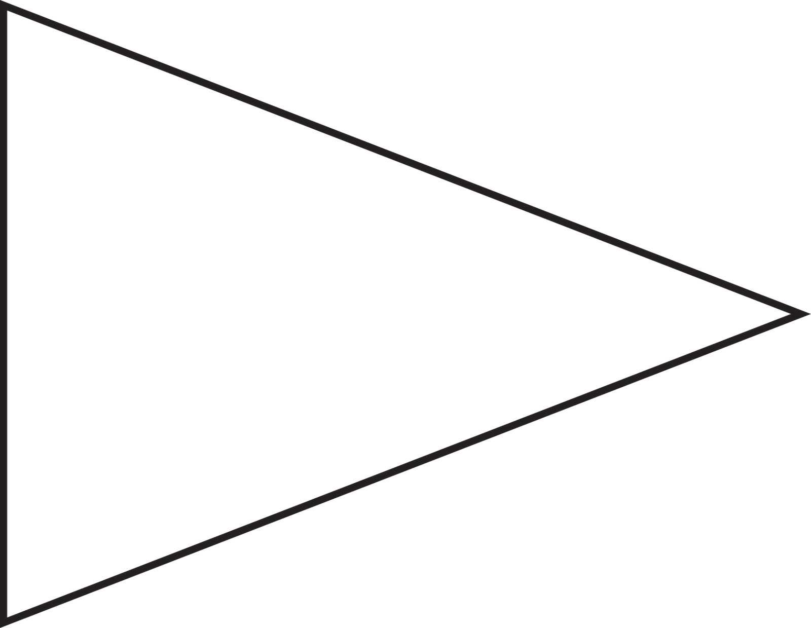 Free Pennant Banner Template, Download Free Clip Art, Free Intended For Free Triangle Banner Template