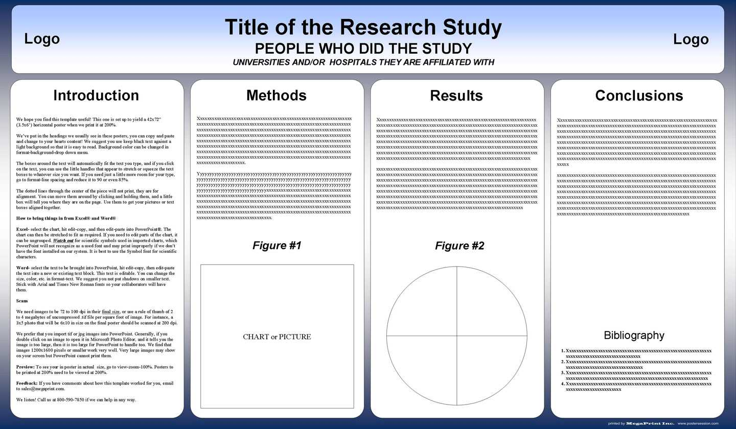 Free Powerpoint Scientific Research Poster Templates For with Powerpoint Presentation Template Size